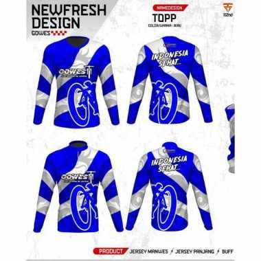 harga [Pre Order 14 Hari] Regarsport TOPP Gowes Indonesia Sehat Jersey Sepeda Pria Custom XXL Biru Blibli.com