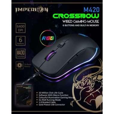 harga Mouse Gaming Imperion Crossbow M420 Hitam Blibli.com