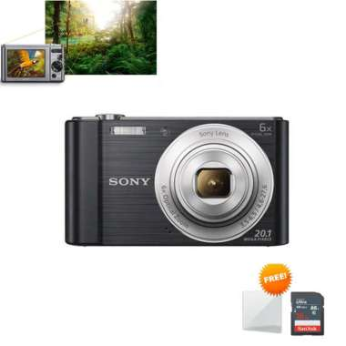 harga Tokocamzone - Sony Cyber-shot DSC-W810 Kamera Pocket Paket 1 Screenguard + Memory 16GB Hitam Blibli.com