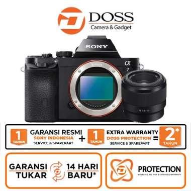 harga DOSS Sony Alpha A7 Kit FE 50mm f/1.8 GARANSI RESMI CNY BLACK Blibli.com
