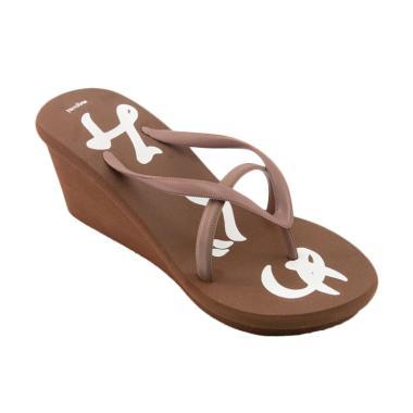 Megumi Garibaldi Sandal Heels Wanita - Brown