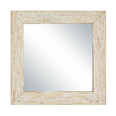 De Erniest Cermin Dinding Walter Square Maestro I  - White