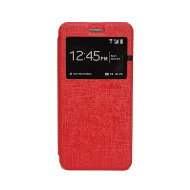 Delkin Flip Cover Casing for Lenovo A6600 - Merah