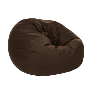 HnR Soerabaja kursi santai bean bag oval - Dark Brown / kursi pantai