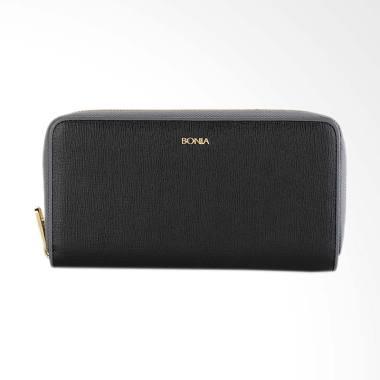Bonia Leather Zip Purse Dompet Wanita - Black