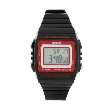 Casio Silicon Jam Tangan Pria W-215H-1A2VDF - Black Red