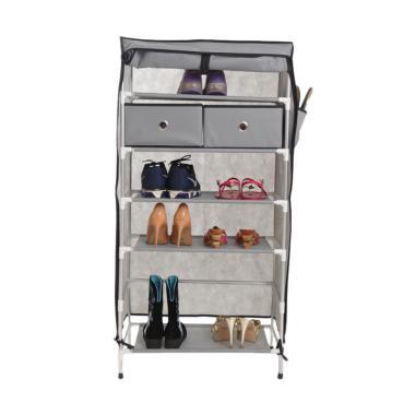 Anya-Living RSL 106-7T+2D Rak Sepatu - Grey