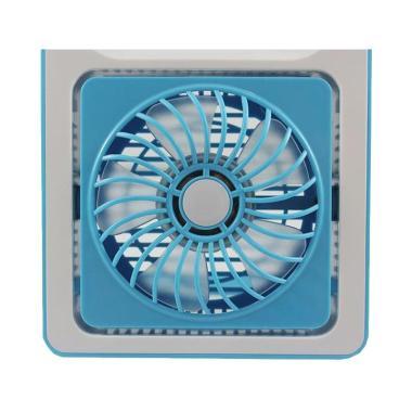 Mini Fan Usb Rechargeable Rotation - Biru