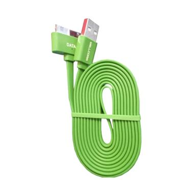 Wellcomm Flat Kabel Data for iPhone 4 - Hijau