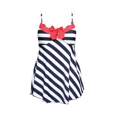 Lasona Baju Renang Rok Wanita - Navy SWJ-2378-L01252