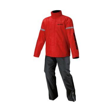 jual komine rk 543 std rainwear setelan jas hujan   red