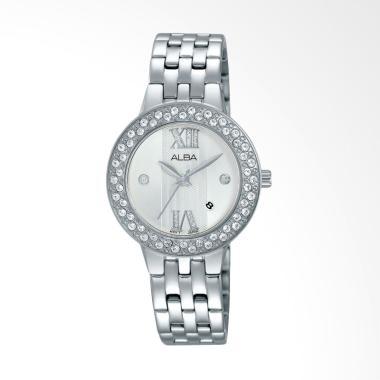 Jam Tangan Wanita Alba Ah7f19x1 White Stainless Steel Bracelet jual alba ah7h45 stainless steel jam tangan