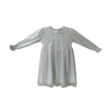 Jual Baby Zakumi Baju Gamis Muslim Anak Perempuan Putih