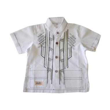 Jual Rafifa Koko Pendek Model D Baju Koko Anak Putih