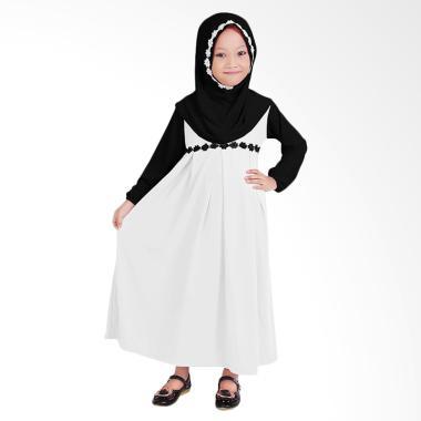 Jual Baju Yuli Baju Gamis Anak Perempuan Putih Hitam