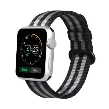 Jual OEM Woven Nylon Strap Band For Apple Watch 42mm