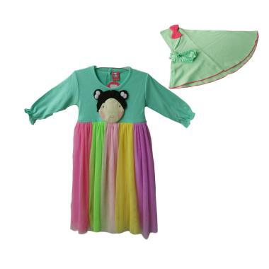 Jual Petite Bear Baju Gamis Rainbow Anak Perempuan Tosca