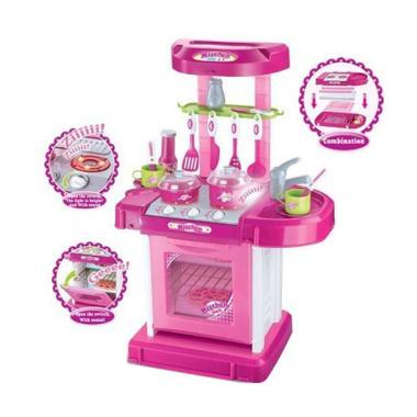 Jual mainan edukasi kitchen set koper mainan anak pink for Jual peralatan kitchen set