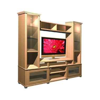 Jual Md Furniture 187 Wall Unit Tv Minimalis Lemari Hias