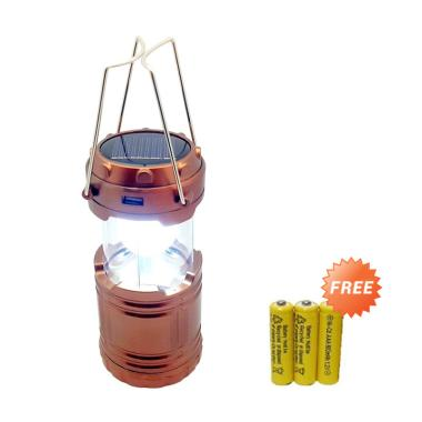 Jual Tic Tac Toe Lampu Camping Solar 3 Way Extra Battery
