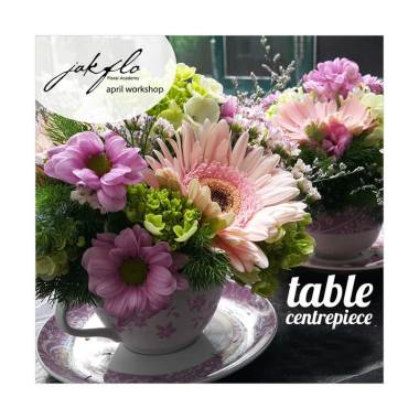 Jual jakflo workshop tea cup table centerpiece for Table th 00 02
