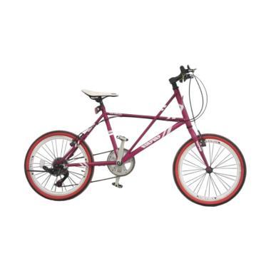 Jual Viva Cycle L2110 Viva Hi Ten Mini Racing Shimano Zero23 7sp Sepeda Ungu Muda 20 Inch