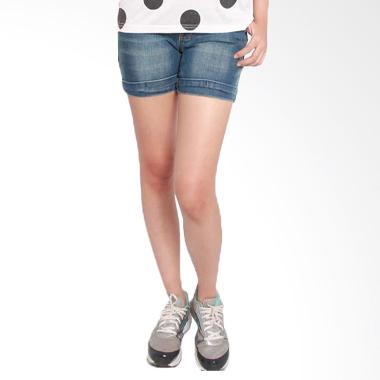 2ndRED 263208A Jeans Hotpants - Mid Blue