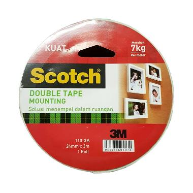 3M Scotch Double Mounting Tape 110-3A [24mm X 3m]