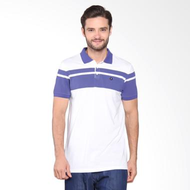 Jual Famo Striped Polo Shirt WHITE 508051712 Online