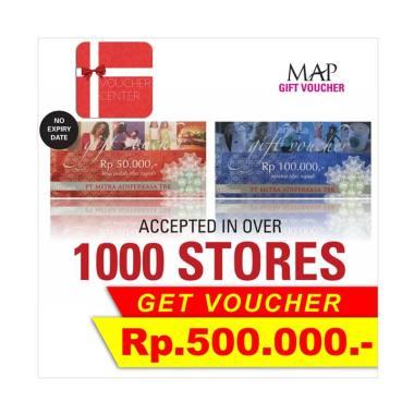 jual voucher center map rp 500 000 online harga