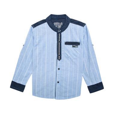Jual osella kids shirt long stripe chambray kemeja anak for Chambray shirt for kids