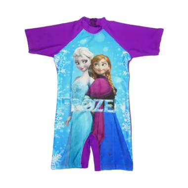 Jual Nice Abg Motif Frozen Baju Renang Ungu Online Baju Gamis Anak