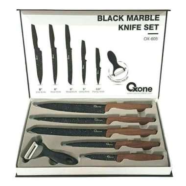 Jual Oxone OX-605 Black Marble Knife Set Pisau Dapur ...