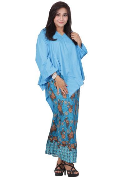 Jual Batik Putri Ayu Solo D91 Dress Batik Setelan Atas