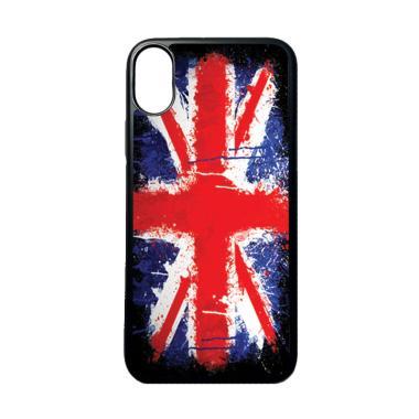 Jual HEAVENCASE Motif Bendera Inggris 7 Softcase Casing for Iphone X - Hitam Online