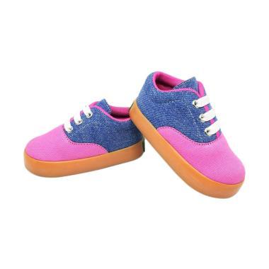 Jual SHUKU Casual Trendy Jeans Sepatu Anak Perempuan - Biru Pink Online - Harga