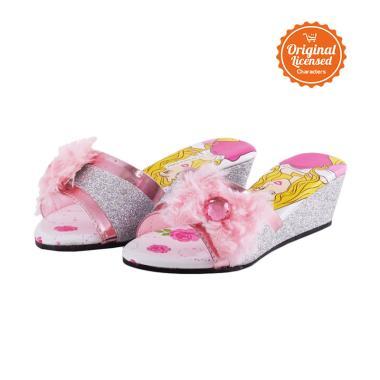 Jual Disney Princess Wedges Slipper 3D Sandal Anak ...