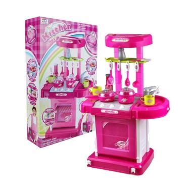 Jual toystoys 0960150089 masak masakan kitchen set koper for Kitchen set mainan