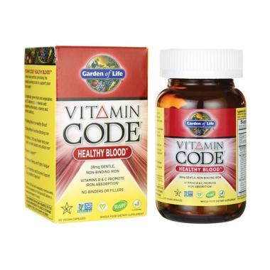 Jual Garden Of Life Vitamin Code Healthy Blood Suplemen Anemia 60 Vegan Capsules Online