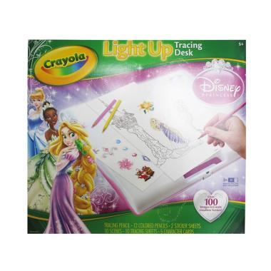 Jual Crayola Princess Light Up Tracing Desk Set Meja