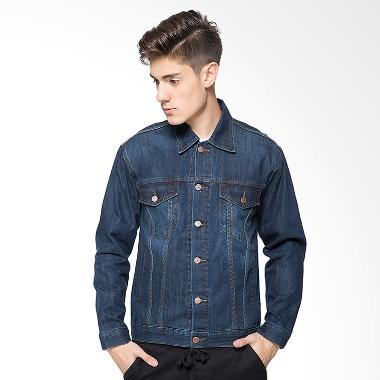 2Nd Red 191207 Jeans Raw Jaket Pria - Navy