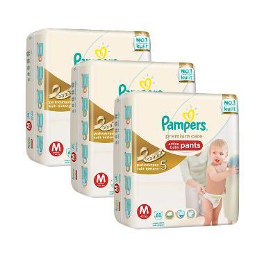 Pampers Popok Celana M 3x68 Premium Care - Popok Bayi