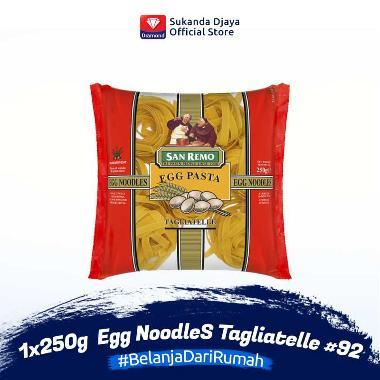 harga San Remo Pasta Egg NoodleS Tagliatelle #92 [250 g] 113288 Blibli.com