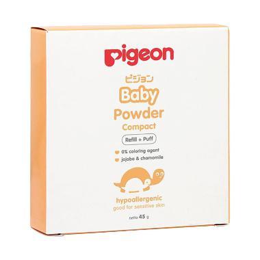 harga Pigeon Bedak Padat Bayi Baby Powder Compact Refill + Puff [45 gr] Blibli.com