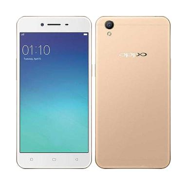 Oppo A37 Smartphone - Gold Free Headphone + I-Ring