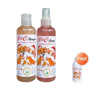 harga D&C Shampo & Spray Anti Kutu + Free Bedak Anti Kutu Anjing & Kucing [150 g] Blibli.com
