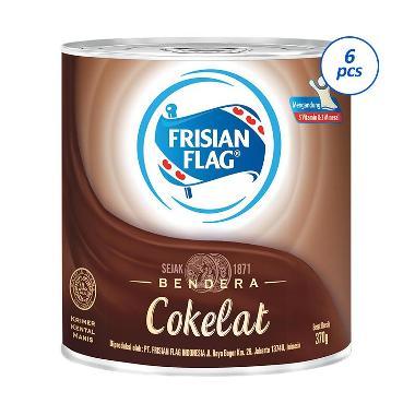 Frisian Flag Susu Kental Manis Chocolate Kaleng [370gr/ 6 pcs]