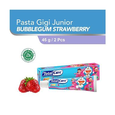 Total Care Junior Toothpaste Bubblegum Strawberry [45 g/ Isi 2]