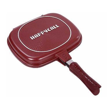 GOJEK BISA Happy Call Double Pan Jumbo Alat Masak - Red [32 cm]