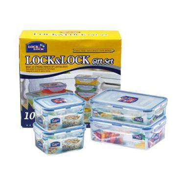 Lock & Lock Gift Set Plastic Food Container With Color Box [10ea]